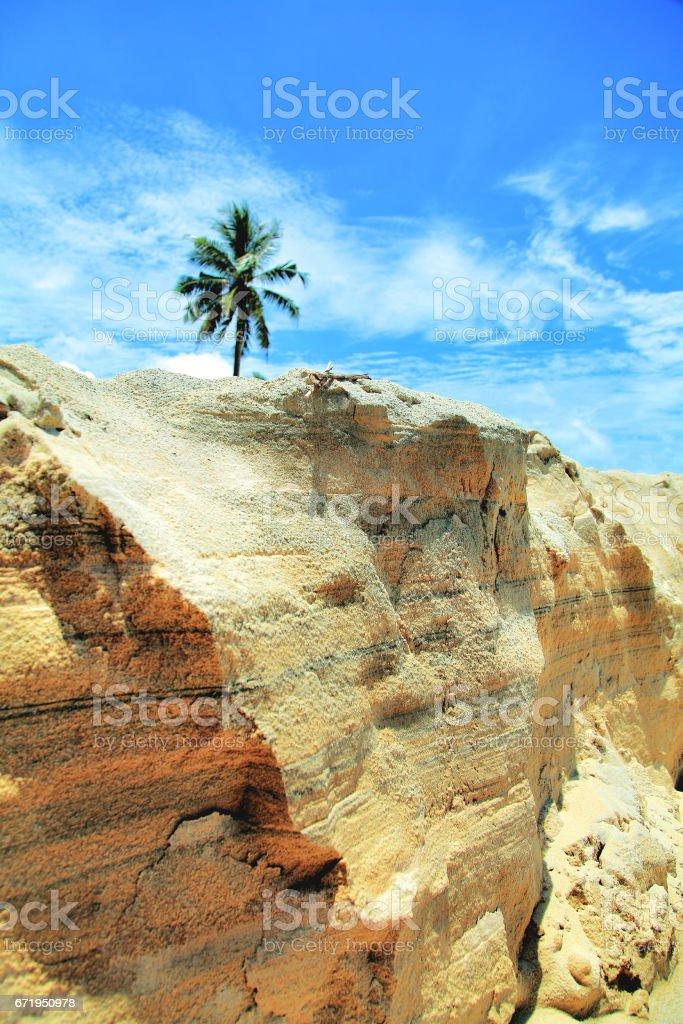 Palma open sand stock photo