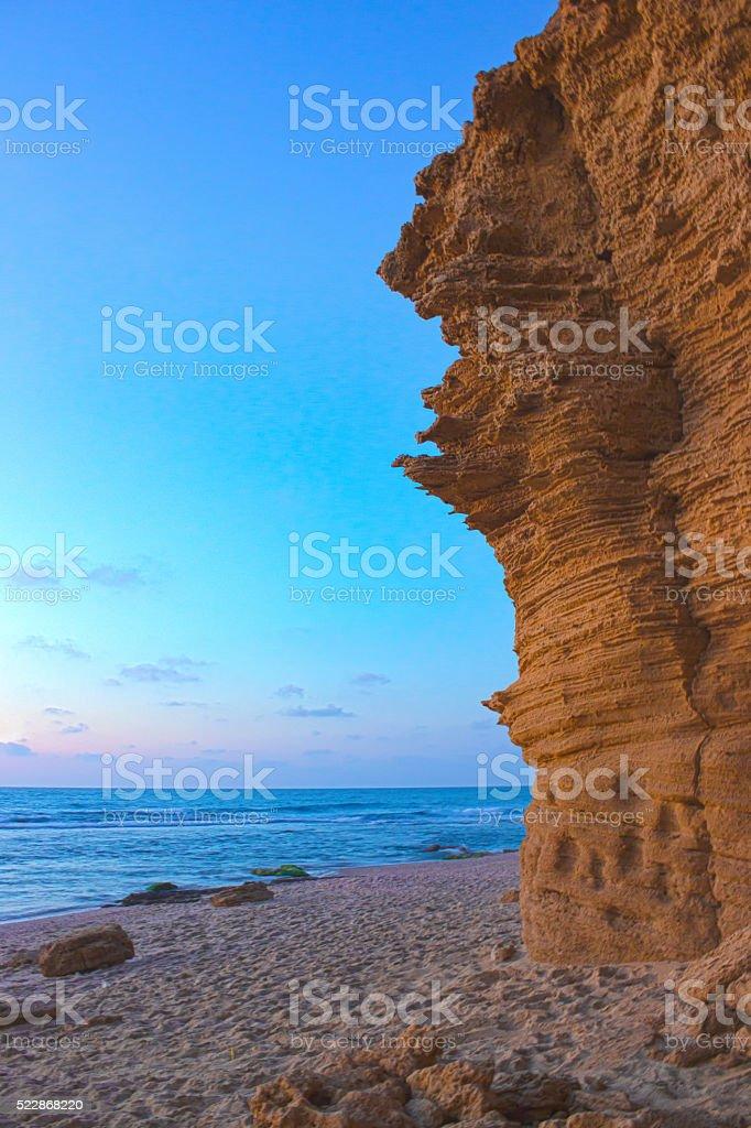 Palmahim beach stock photo