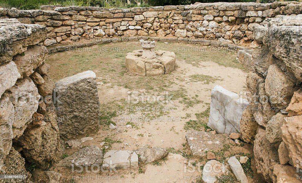 Palmavera Nuragic archaeological complex stock photo
