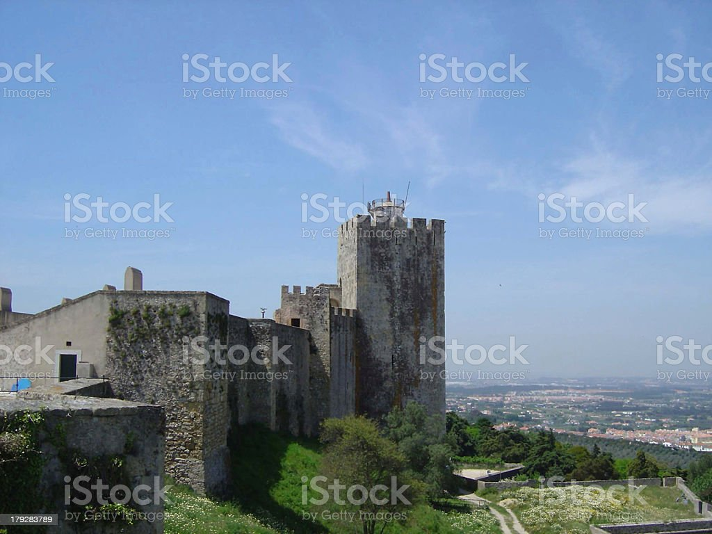 palmela castle5 royalty-free stock photo