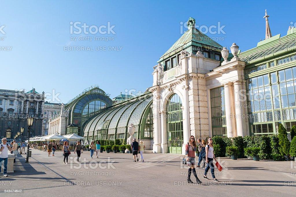Palmenhaus in Burggarten, Vienna, Austria stock photo