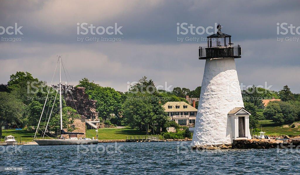 Palmer's Island Lighthouse stock photo