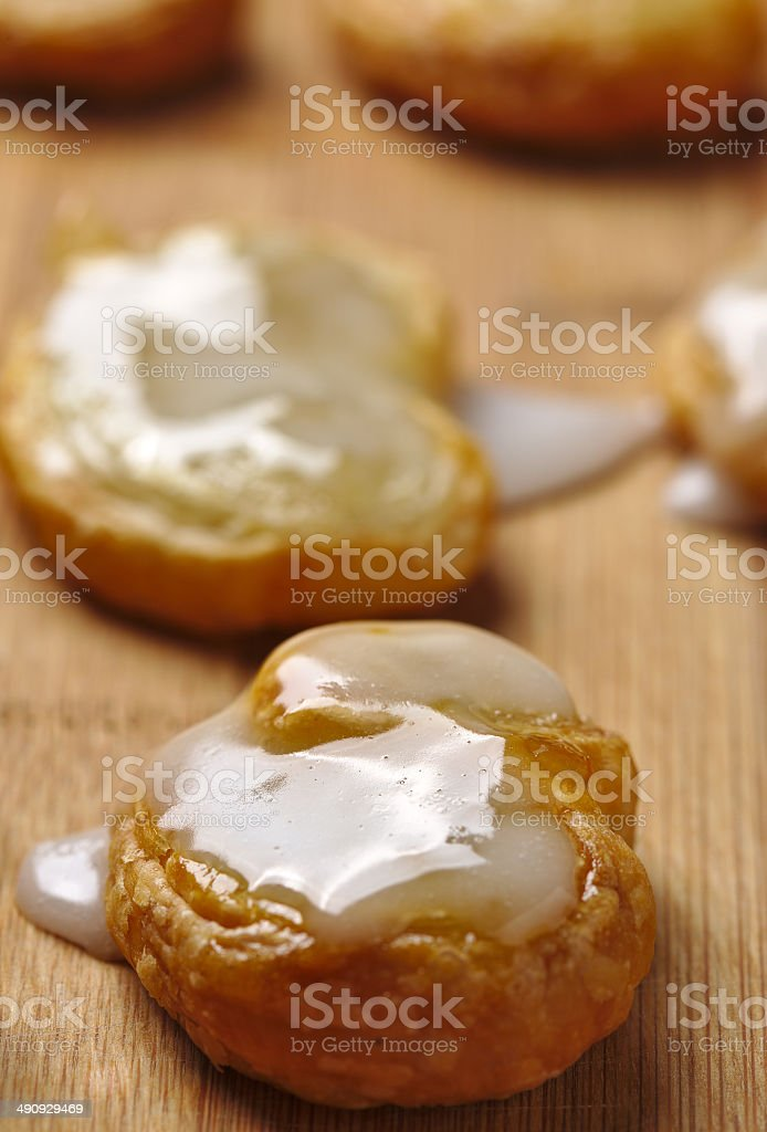 Palmier pastry stock photo