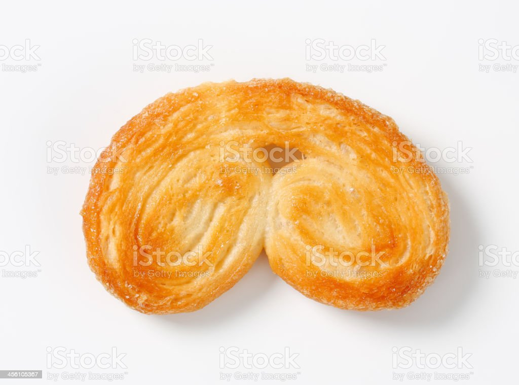 Palmier - puff pastry cookie stock photo