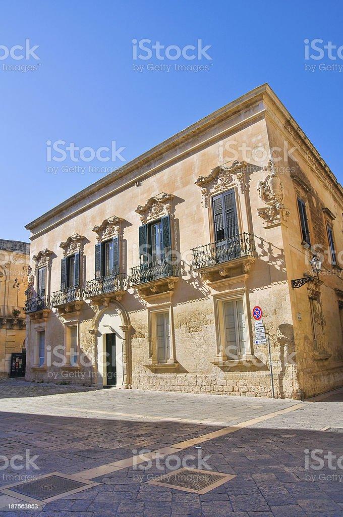 Palmieri Palace. Lecce. Puglia. Italy. royalty-free stock photo