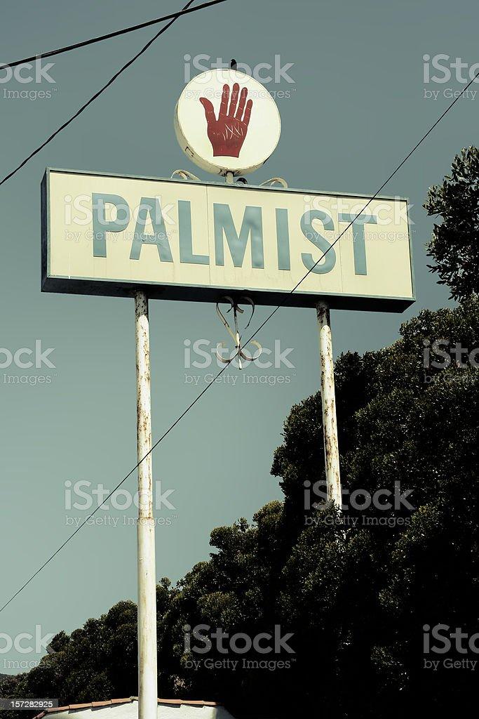 Palmist Sign stock photo