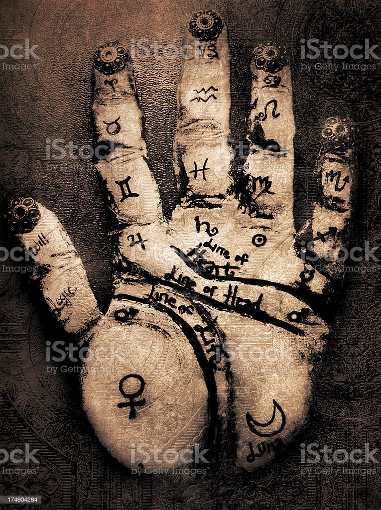 Palmistry stock photo