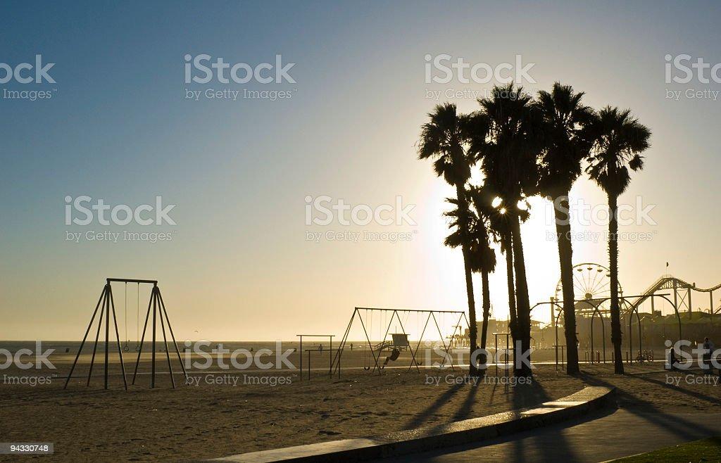 LA palms pier and promenade royalty-free stock photo