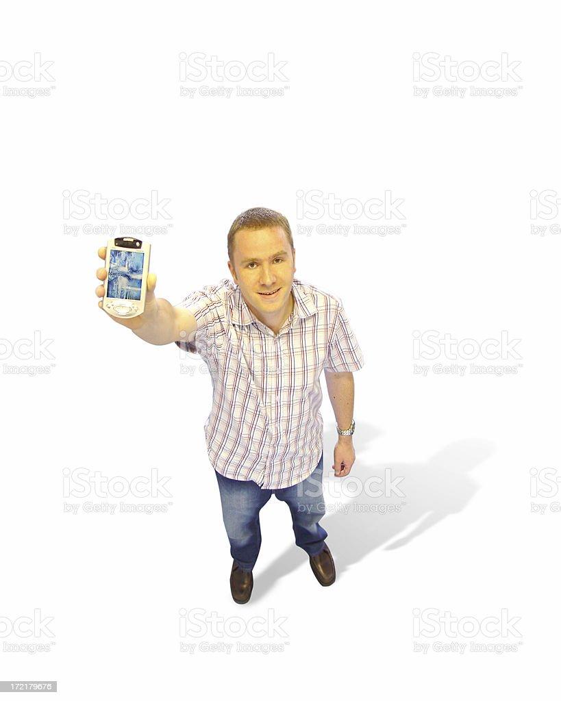 PDA palmtop - man royalty-free stock photo