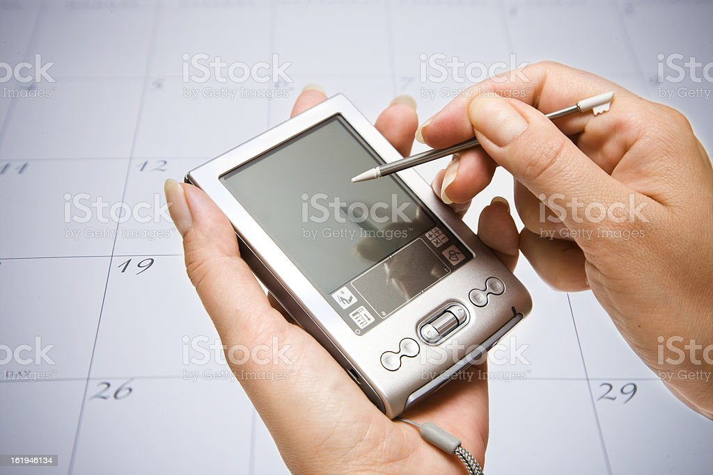 Palmtop royalty-free stock photo
