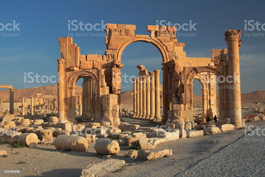 Palmyra - ancient ruins stock photo
