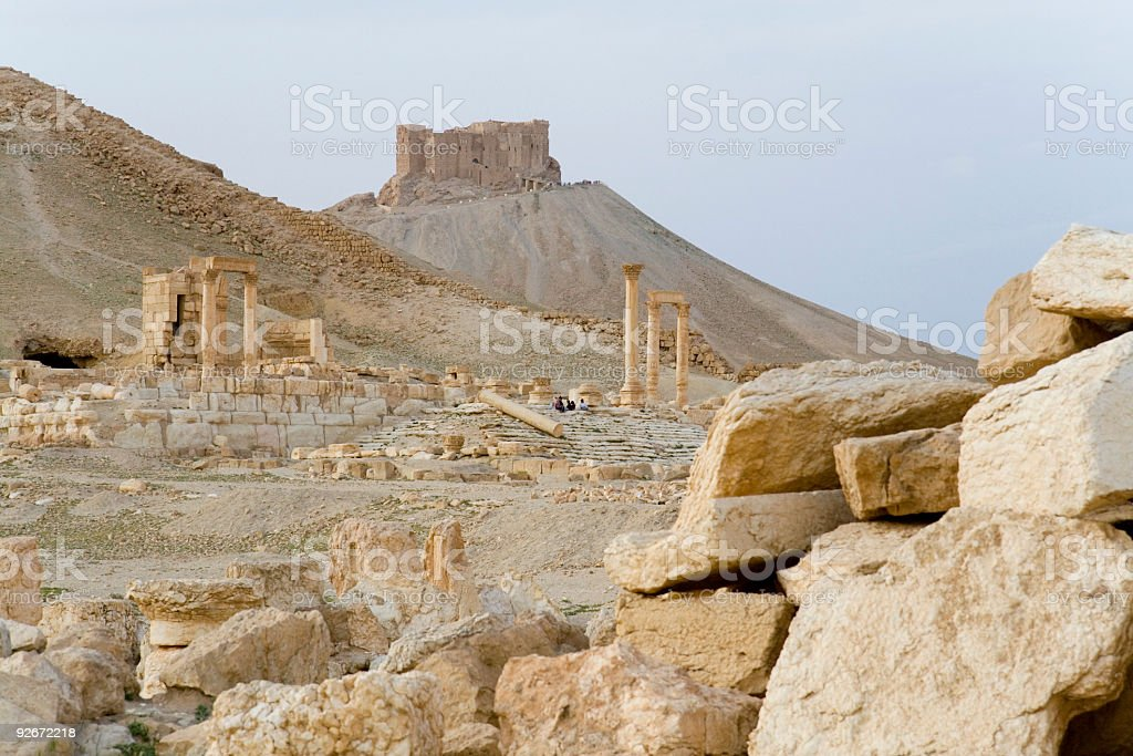 Palmyra - Arabic Castle stock photo
