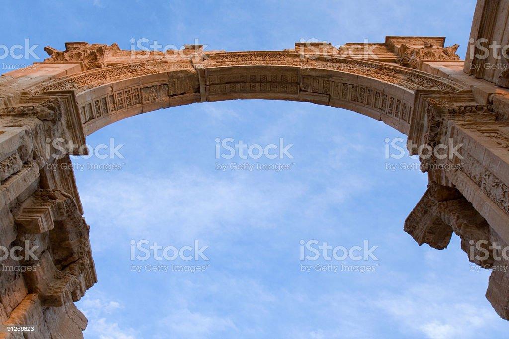Palmyra - Archway stock photo