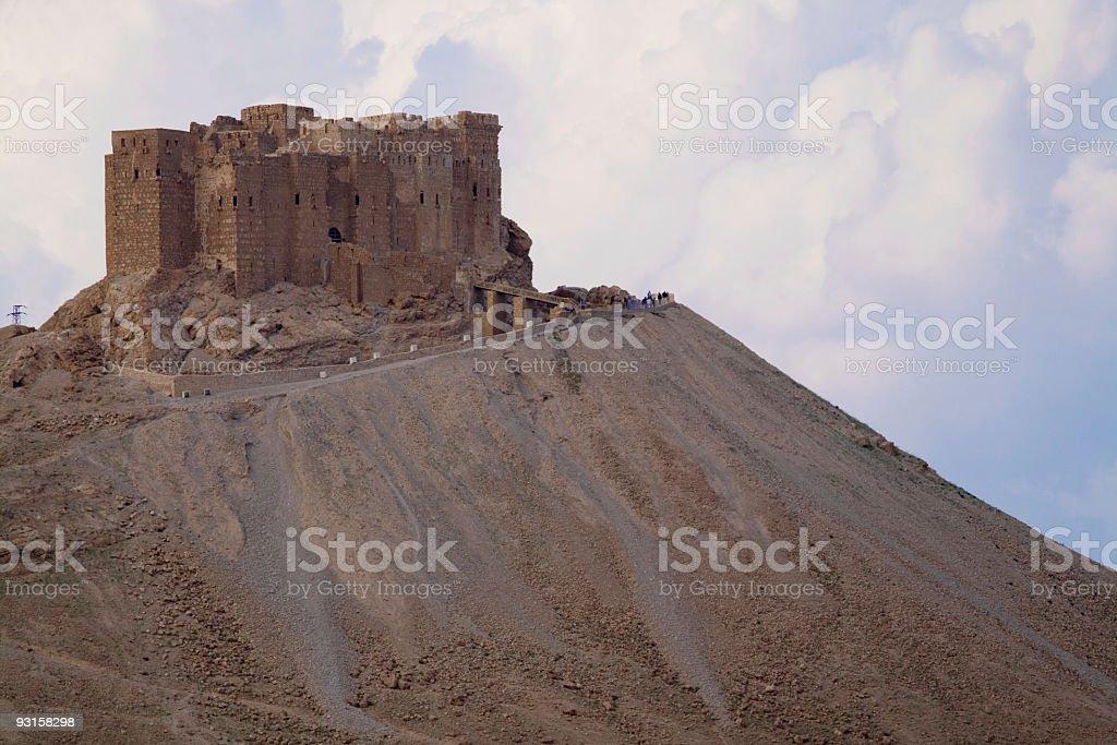 Palmyra Castle Qalat Ibn Maan stock photo