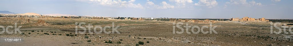Palmyra Panoramic stock photo
