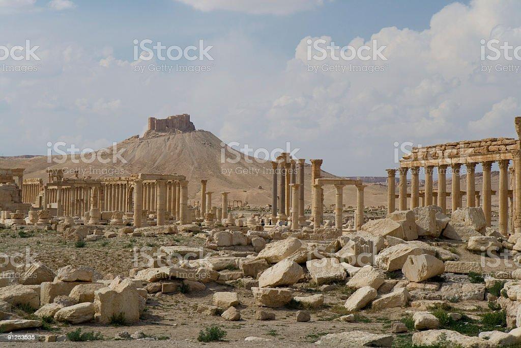 Palmyra - Qalat Ibn Maan stock photo