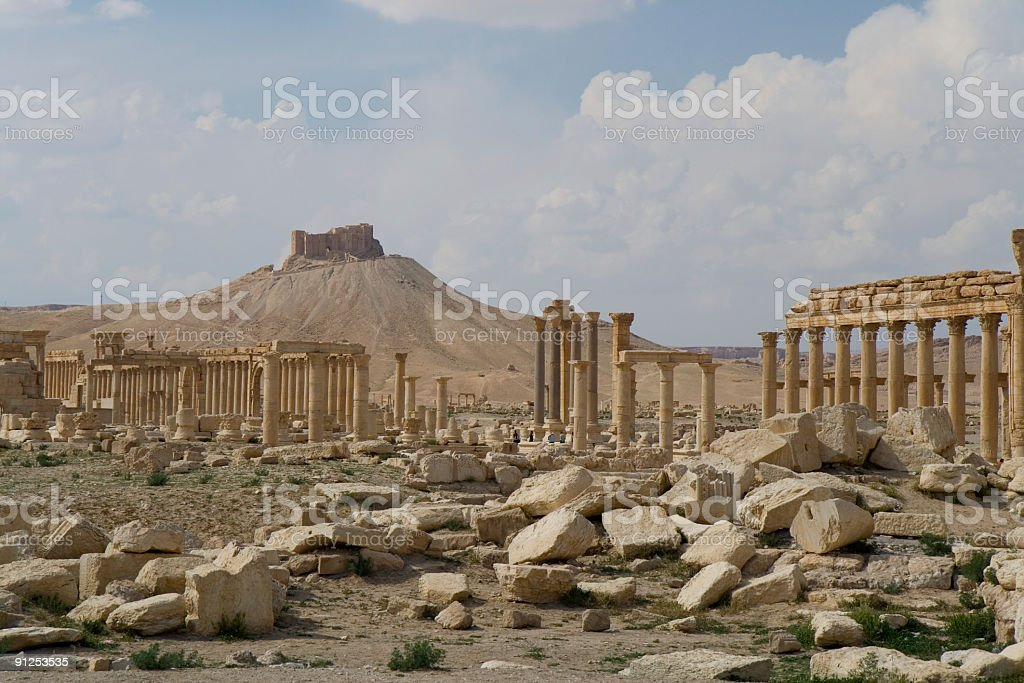 Palmyra - Qalat Ibn Maan stock photo