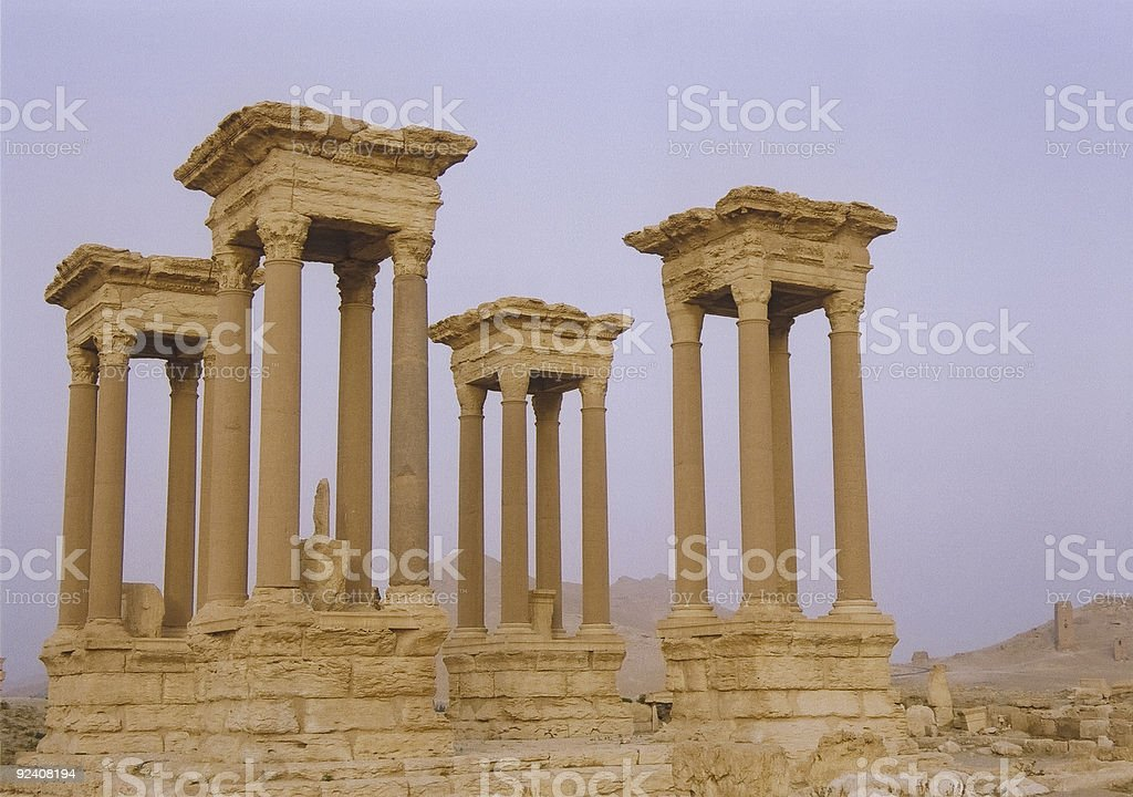 palmyra roman desert ruins syria royalty-free stock photo
