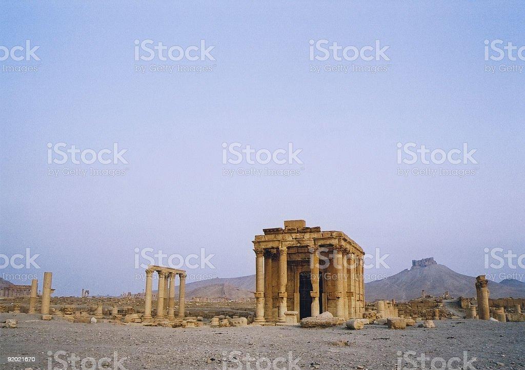 palmyra temple royalty-free stock photo