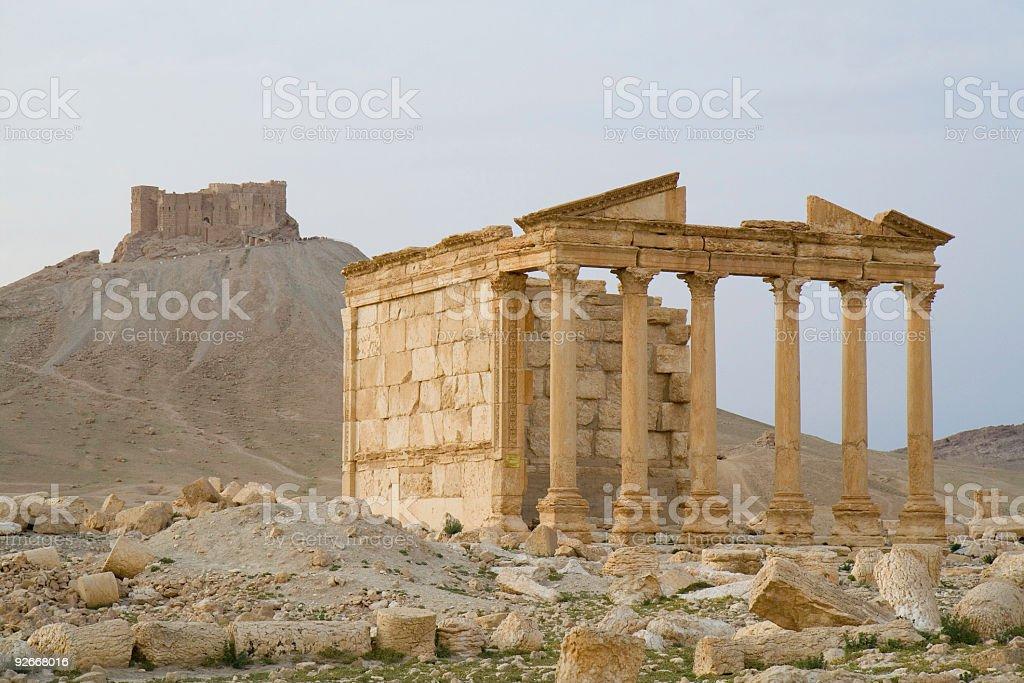 Palmyra Temple stock photo