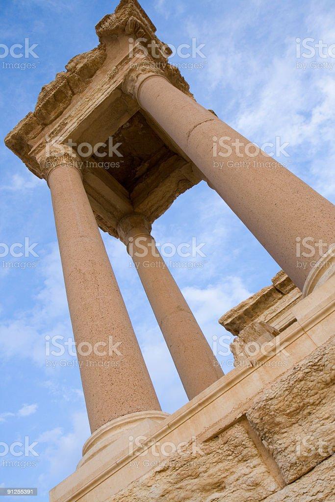 Palmyra - Tetrapylon stock photo