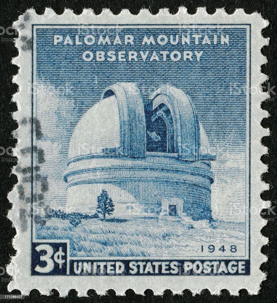 Palomar Mountain Observatory Stamp stock photo
