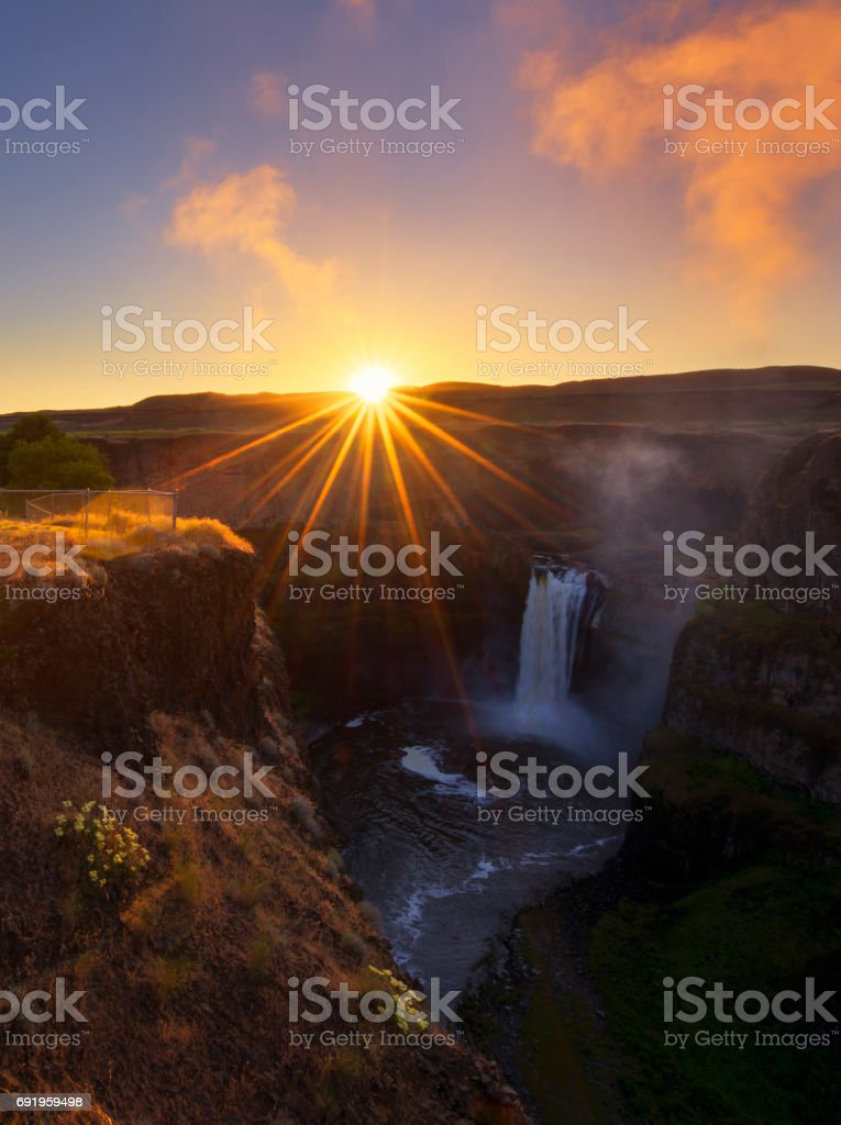 Palouse Falls at Sunrise stock photo