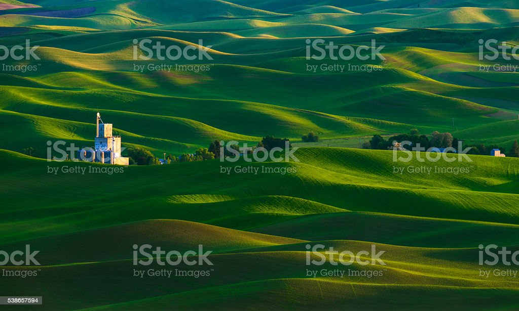 Palouse, WA in Spring. stock photo