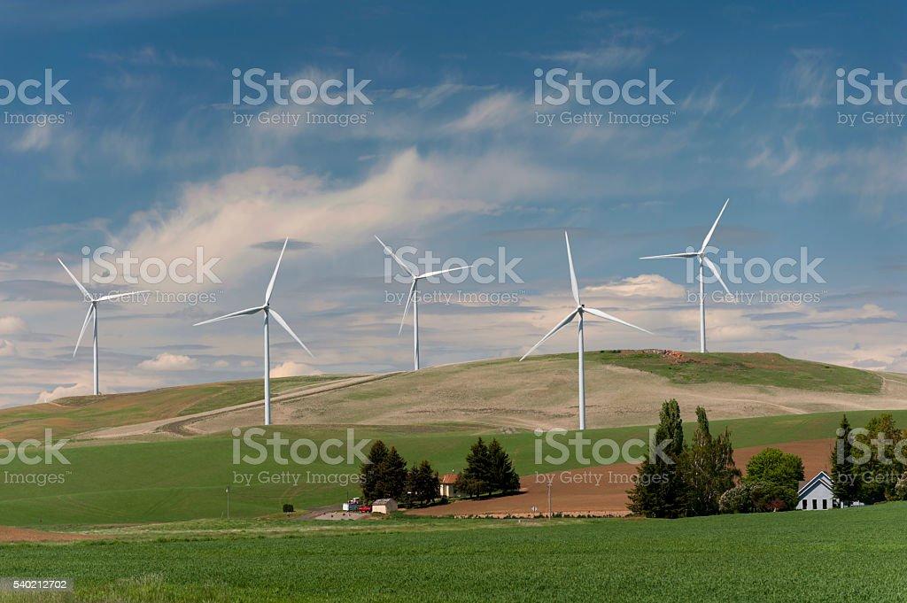 Palouse Wind Farm stock photo