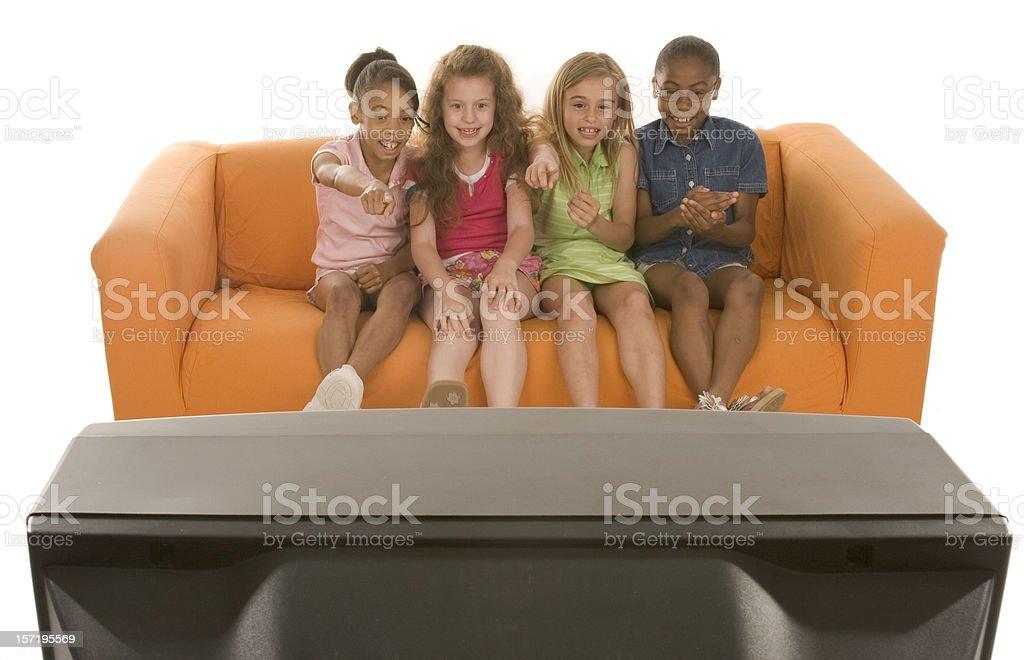 TV pals royalty-free stock photo