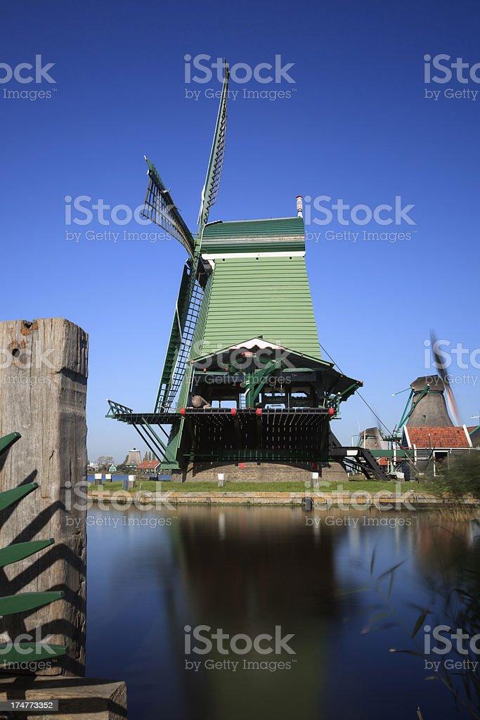 paltrok mill De Gekroonde Poelenburg on the Kalverringdijk at Za royalty-free stock photo