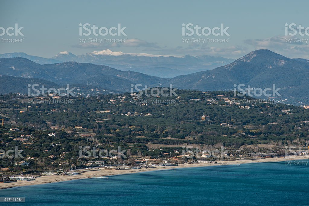 Pampelonne beach in Saint-tropez. stock photo