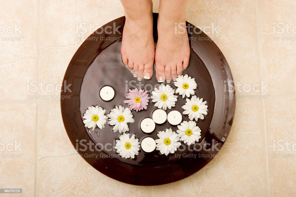 Pampered feet royalty-free stock photo