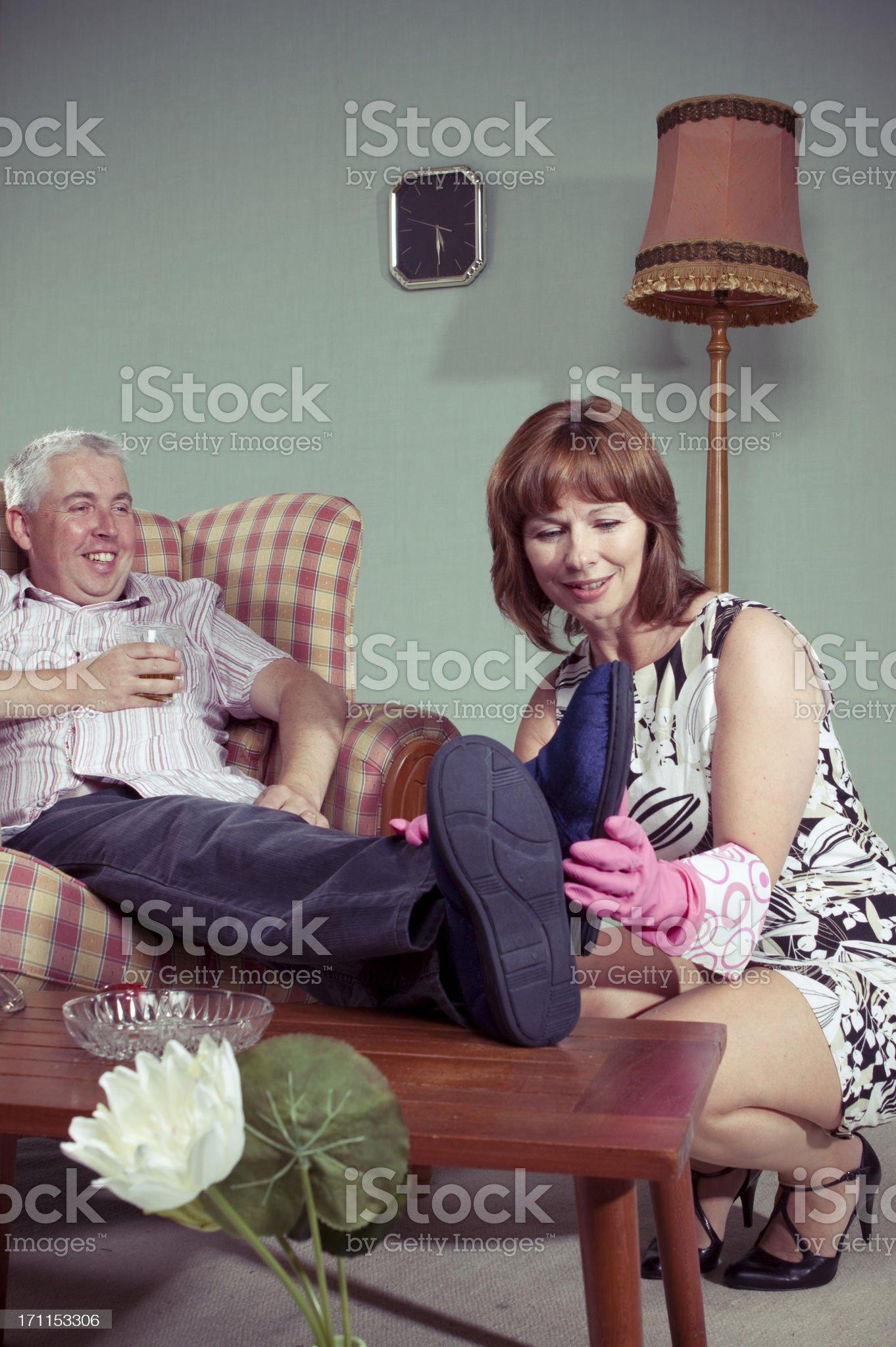 Pampered husband royalty-free stock photo