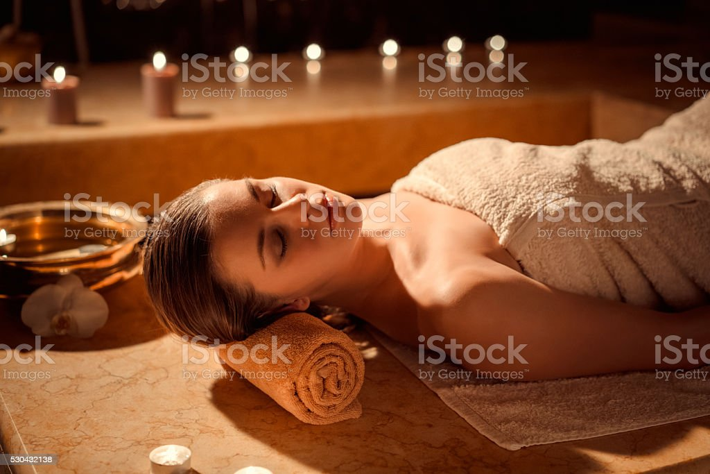 Pampering stock photo