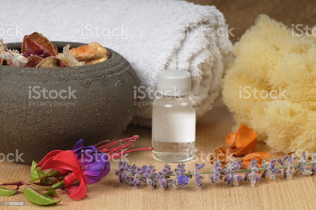 Pampering Products stock photo