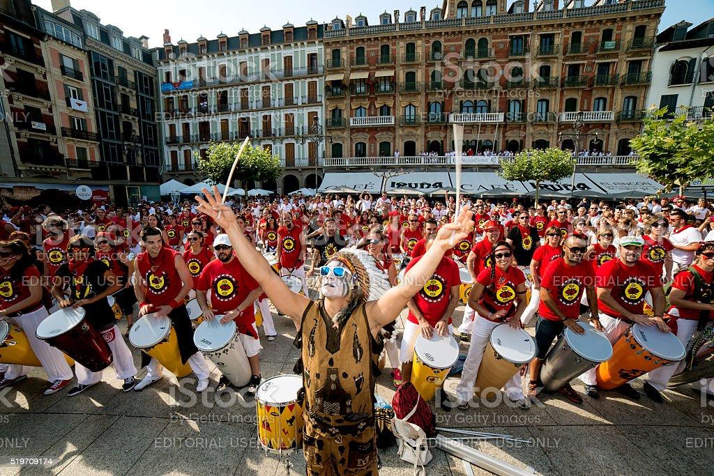 Pamplona Navarra Spain July 11 2015S Firmino fiesta stock photo