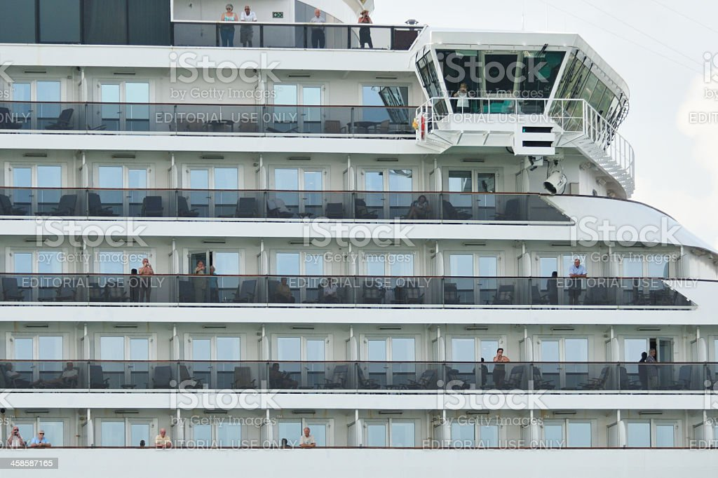P&O cruise ship Arcadia royalty-free stock photo
