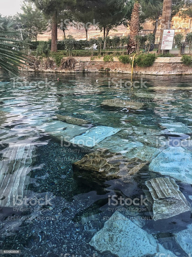 Pamukkale Antique Pool in Turkey stock photo