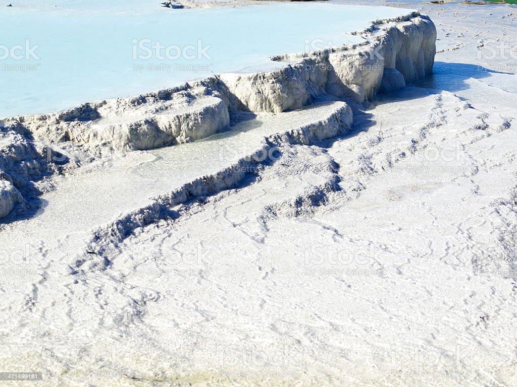 Pamukkale cascads stock photo