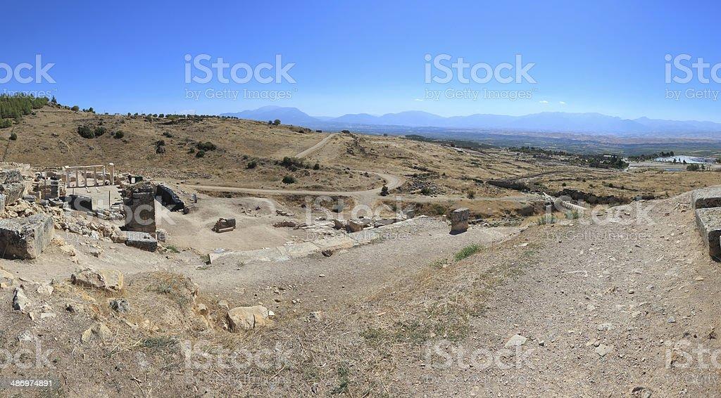 Pamukkale Hierapolis - Panoramic royalty-free stock photo
