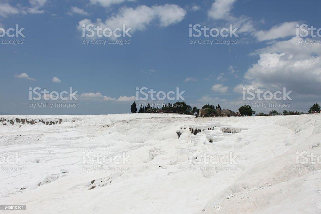 Pamukkale in Turkey stock photo