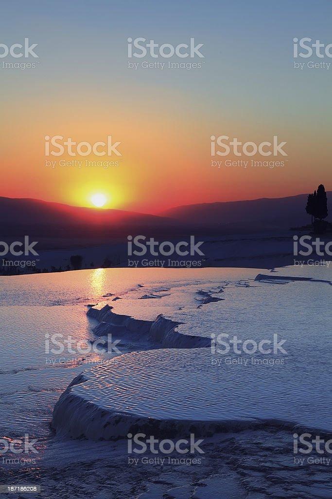 Pamukkale Night - Hierapolis stock photo