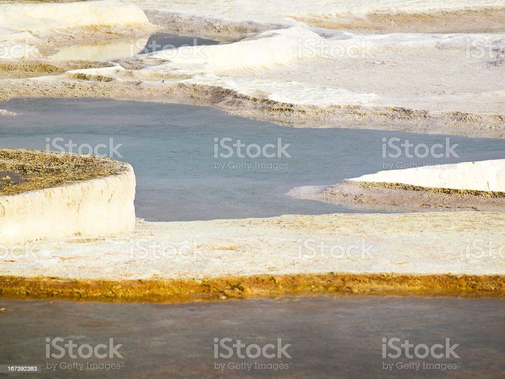Pamukkale pools stock photo