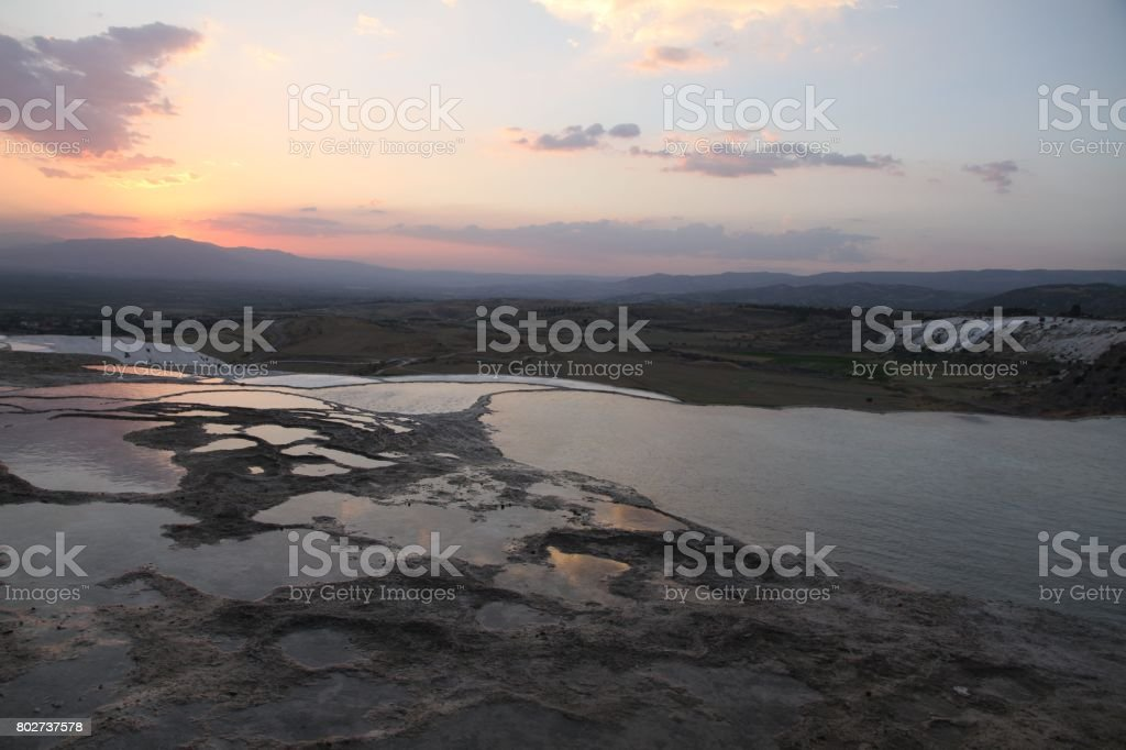 Pamukkale Sunset stock photo