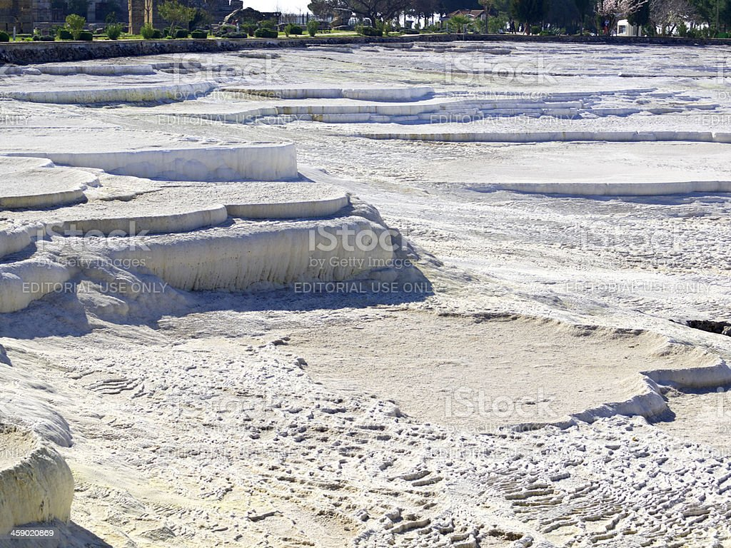 Pamukkale terraces stock photo