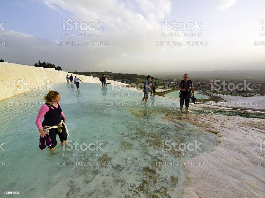 Pamukkale top stock photo