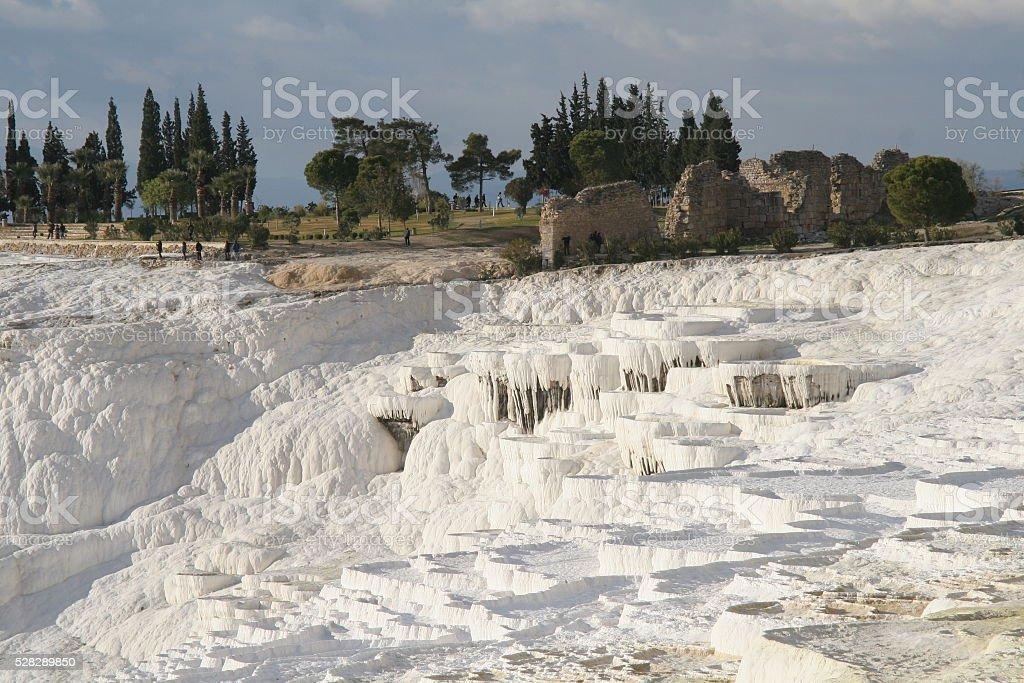 Pamukkale, Turkey, Sinterterassen stock photo