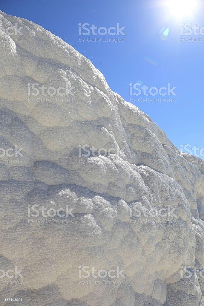 Pamukkale - Wall of Calcium royalty-free stock photo