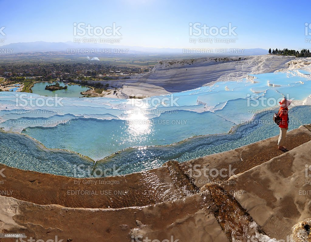Pamukkale-Hierapolis - Panoramic royalty-free stock photo